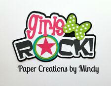 CRAFTECAFE Mindy Girls Rock Music DIECUT premade paper piecing scrapbook title