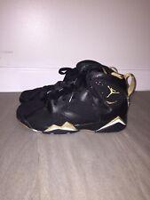 Air Jordan Retro 7 Golden Moments Black and Gold Size 6Y