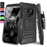 For Samsung Galaxy S9/S8/Plus/Note 9/8 Rugged Armor Case Cover Belt Clip Holster
