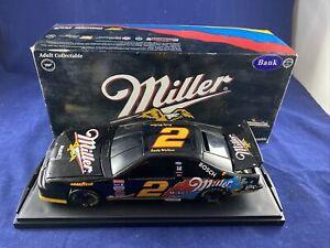 NASCAR Diecast Car BANK 1:24 Rusty Wallace #2 Miller 1995 Thunderbird
