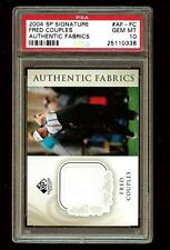 FRED COUPLES 2004 SP Signature Golf Authentic Fabrics PSA 10 POP 1 #1747