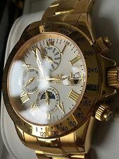 Men's Luxury Polished Wristwatches with Sapphire Crystal