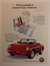 1991 Alfa Romeo Spider Veloce Ad #2 - Must See !!