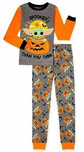Baby Yoda Pajamas Set Halloween Costume Girl Boy 4 6 8 10 Mandalorian Star Wars