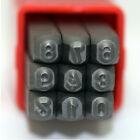 Metal Punch Number Stamps 9 pieces Set 0 to 9, Size 3.0mm