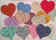 Country Floral Hearts fabric scraps Pack remnants patchwork bundles 100% cotton