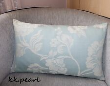 Shabby Chic Style Cushion Cover, Sherbourne  Fabric / John Lewis Light Blue