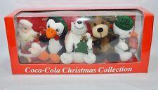 COCA-COLA Coffret de 5 peluches Christmas Collection . VOIR DESCRIPTIF ET PHOTO