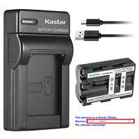 Kastar Battery Slim Charger for Sony NP-FM500H & Alpha ¦Á77II a77 II SLT-A77 II