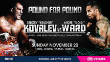 SERGEY KOVALEV v ANDRE WARD AUSTRALIAN TV PROMO BOXING POSTER