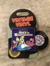 Disney Parks Vintage Vinyl Alice In Wonderland Pin of the Month 2019 Le 3000