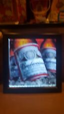 Budweiser beer picture frame style Sign Light Up .American made authentic heavy
