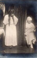 BL993 Carte Photo vintage card RPPC femme nourrice bébé robe de chambre