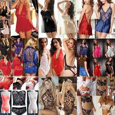 Multi Styles Women Lace Lingerie String Thong Babydoll Nightwear Underwear Style 6 Blue M