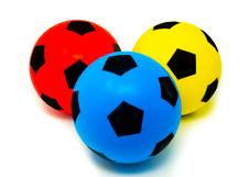Confezione da 3 20 cm E-offerte schiuma spugna calcio palla soffice giocattolo di calcio Indoor Outdoor