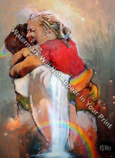 First Day In Heaven Painting - I HELD HIM And Would Not Let Him Go Reprint Print