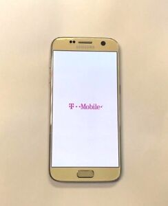 Excellent Samsung Galaxy S7 SM-G930T GSM Unlocked T-Mobile Gold Simple Ultra