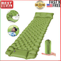 Camping Sleeping Pad, Ultralight Backpacking Air Mattress with Pillow for Travel