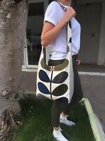 ORLA KIELY STEM Gray  FABRİC-CROSSBAG SHOULDER BAG-SHOPPING BAG HANDMADE