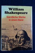 William Shakespeare - Sämtliche Werke in einem Band - in deutscher Sprache