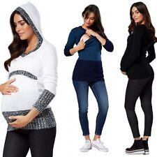 Zeta Ville. Women's Maternity Nursing Hooded Sweater Long Sleeves. 452p