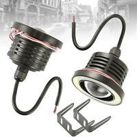 2x 3'' Angel Eyes Halo Car White Fog Lights Lamp Projector DRL COB LED Bulbs New