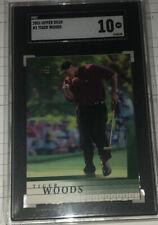 2001 Upper Deck Golf Tiger Woods ROOKIE RC #1 SGC GEM MT 10!!!