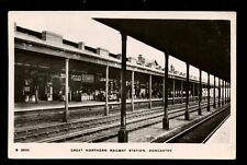 Yorks GNR Railway DONCASTER station interior RP PPC   1916