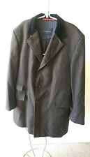 TOMMY HILFIGER DESIGNER TAILORED MENS 100% VIRGIN WOOL COAT SIZE L LARGE / XL