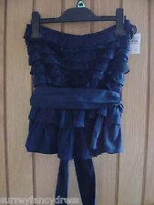 Abercrombie & Fitch Ladies Blue Strapless Top Size M Medium NEW RRP £50 (Ref Z)