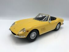 Ferrari 275 gtb/4 Nuts Spyder 1967 avec jantes en acier jaune - 1:18 KK-Scale >> New << *