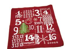 "Pottery Barn Christmas Holiday Advent Calendar Sofa Toss Pillow Cover 18"" New"