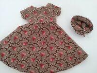 "8"" Ginny Doll Clothes, Handmade Beaded 'Gillian' Dress & Contemporary Headpiece"