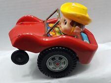 Vintage Japanese Masudaya Trade Mark Modern Toys - Boy w/Yellow Hat in Red Car