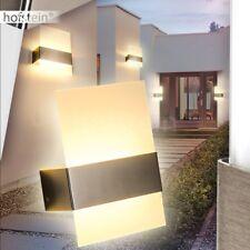 LED Außen Wand Leuchte Terrassen Garten Edelstahl Beleuchtung Glas Veranda Lampe