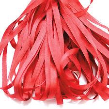 Un mètre de doux ruban de soie, rouge cerise couleur, 4 mm large