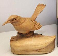 Antique German carved wood bird black forest hunting natural Danish Design décor