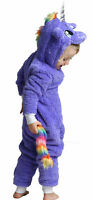 Boys or Girls UNICORN WITH TAIL 0nesie Animal Costume BEST QUALITY Kids Age 3-13