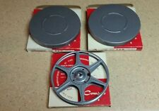 "Vintage Compco Motion Picture Cans and 7"" Metal Reel, Lot of 3, New"