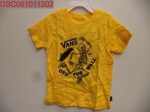 NWT - Vans Toddler Shirt, By Break Bones, Size 2T, Yellow, 192364783429