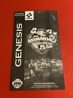SEGA GENESIS Konami Animaniacs INSTRUCTION MANUAL RARE CARDBOARD BOX VERSION