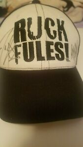 2005 john cena Ruck Fules hat Signed by john cena and Tha Trademarc Rapper