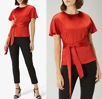 COAST Poppy Satin Tie Waist Tailored Blouse Top