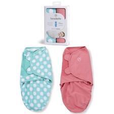 SUMMER Infant SwaddleMe BABY Swaddle aperto 2 Pack Small 7-14lb Teal DOT / Rosa