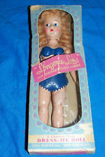 "Vintage Lingerie Lou Dress Me Doll Plastic USA Play Up 7"" Risqué Old Novelty"