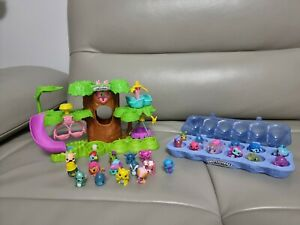 Hatchimals Colleggtibles Treehouse Playset Nursery Hatchery, Figures with case