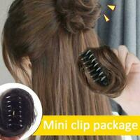 Claw Clip In On Clamp Curly Up Do Hairpiece Extension H8U5