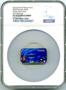 2020 $20 CANADA 1OZ SILVER NGC PF70 CLARENVILLE EVENT UFO UNEXPLAINED PHENOMENON
