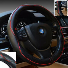 Car Leather Steering Wheel Cover Universal Breathable Anti-slip Sleeve Protector