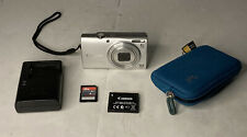 Canon PowerShot A4000 IS Digital Camera 16MP 8X Zoom Silver-W/ Case& Accessories